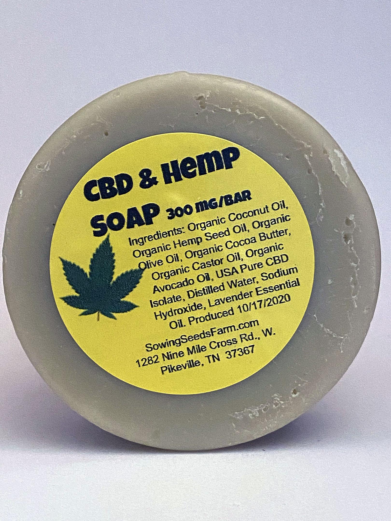 300mg Cbd Hemp Soap Bar Sowing Seeds Hemp Farm